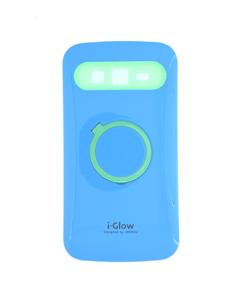 i-Glow Night Glow Mobile Cover For Samsung Galaxy Grand 2 Duos 7106-BLUE