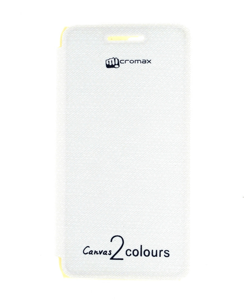 Flip Cover for Micromax Canvas 2 A120 - WHITE