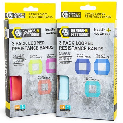 Series 8 Fitness - 3 Pack Looped Resistance Bands