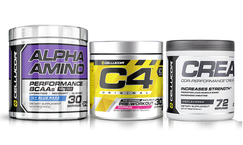 Cellucor Stack - C4 Pre Workout + Creatine + Alpha Amino BCAA