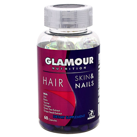 Midway Labs Glamour Nutrition Hair Skin & Nails - 60 Capsules - 813236020540