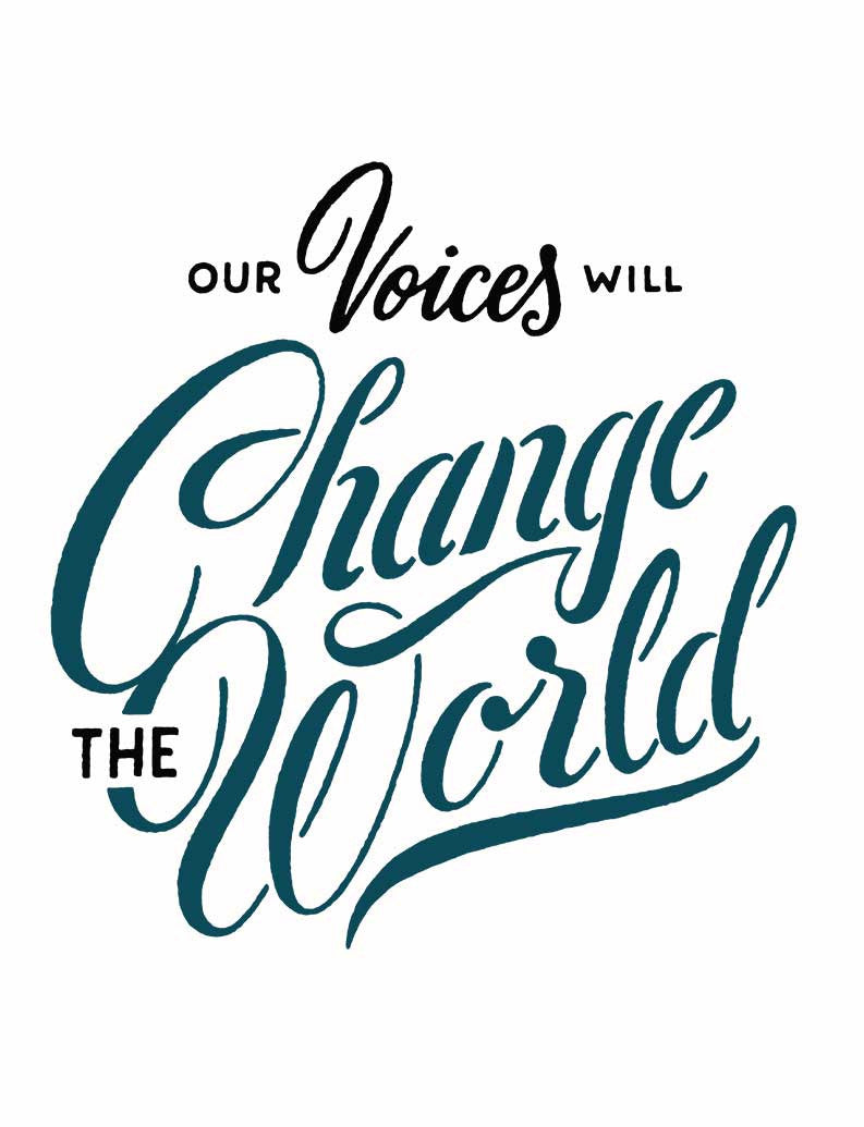 Our Voices Change the World Flowy V Neck