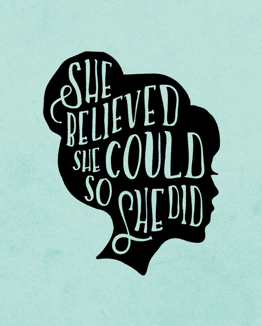 SEVENLY  HOME GOODS - COTTON CANVAS DOWN THROW PILLOW - She Believed