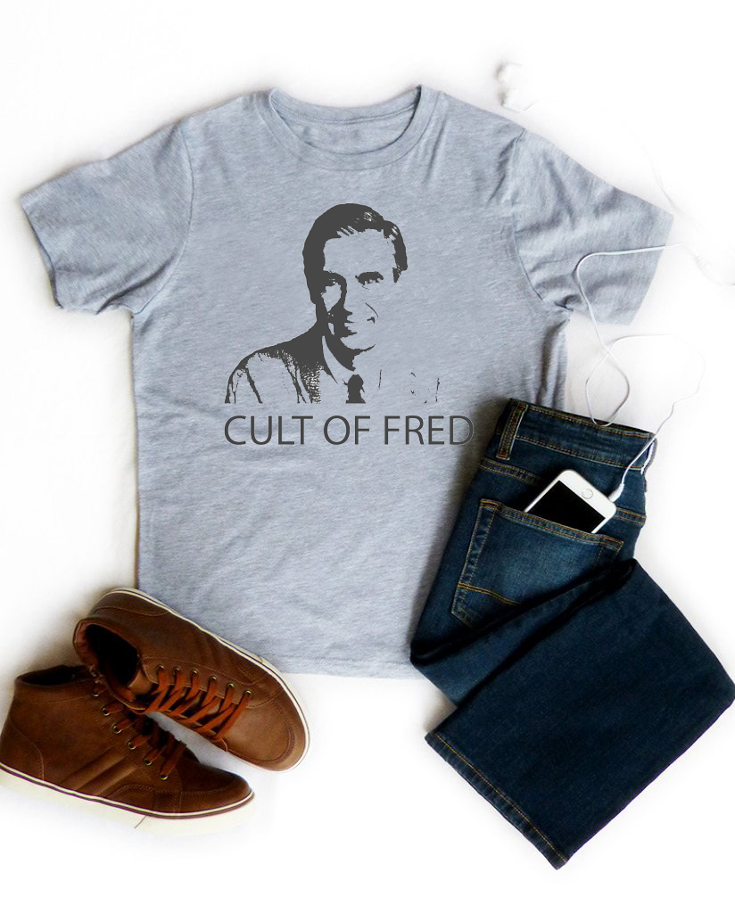 CULT OF FRED Boys Heather Grey Short Sleeve Tee