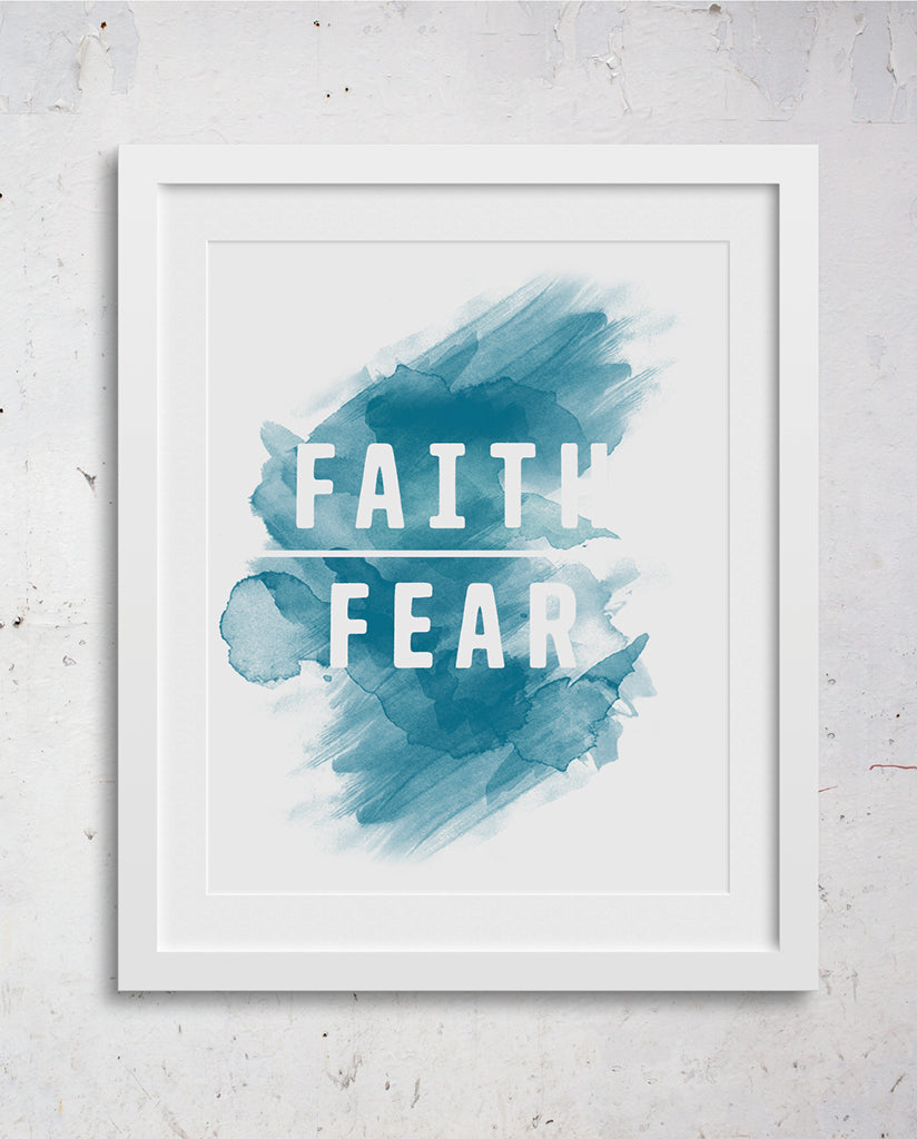 FAITH OVER FEAR Wall Art