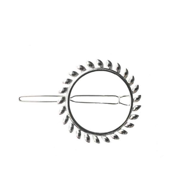 Silver Sun Hair Clip by Headbands of Hope