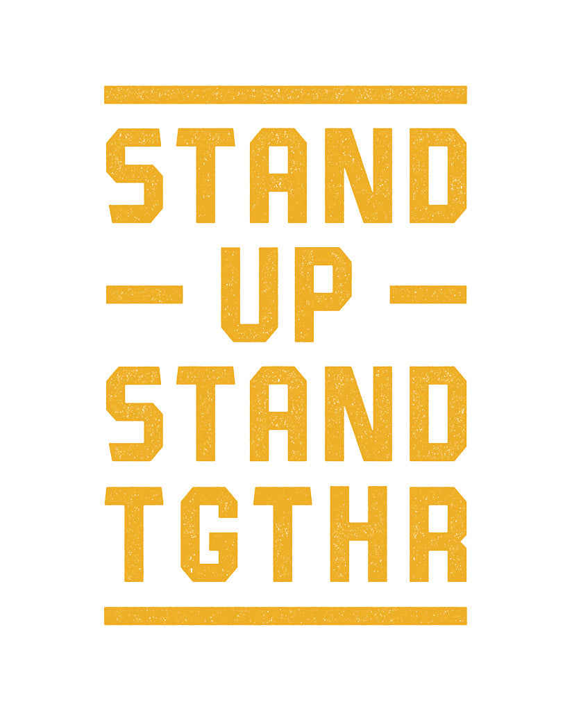 Stand Up Tgthr Boys Maroon Tee