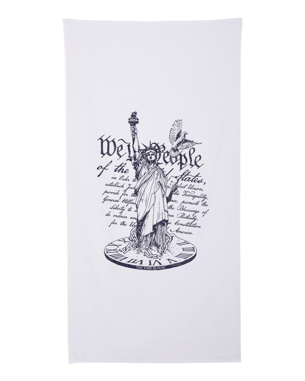 We The People The Time Is Now Premium Cotton Velour Beach Towel