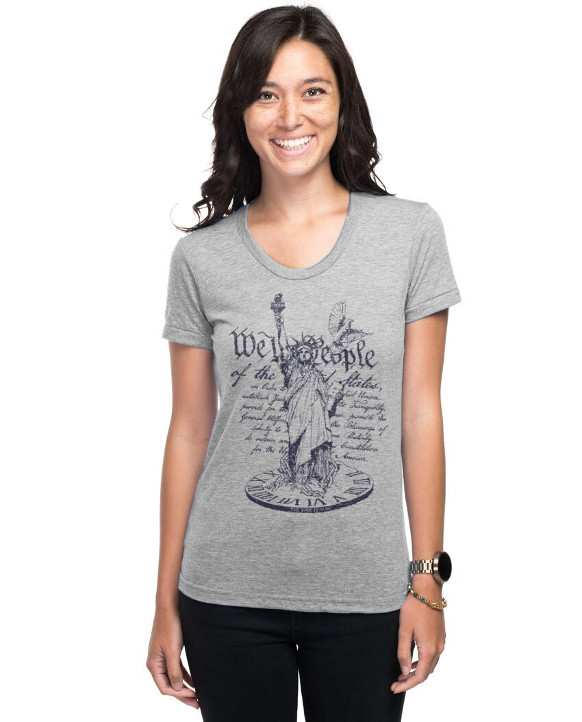 We The People The Time Is Now Women's Slim Fit Short Sleeve Tee
