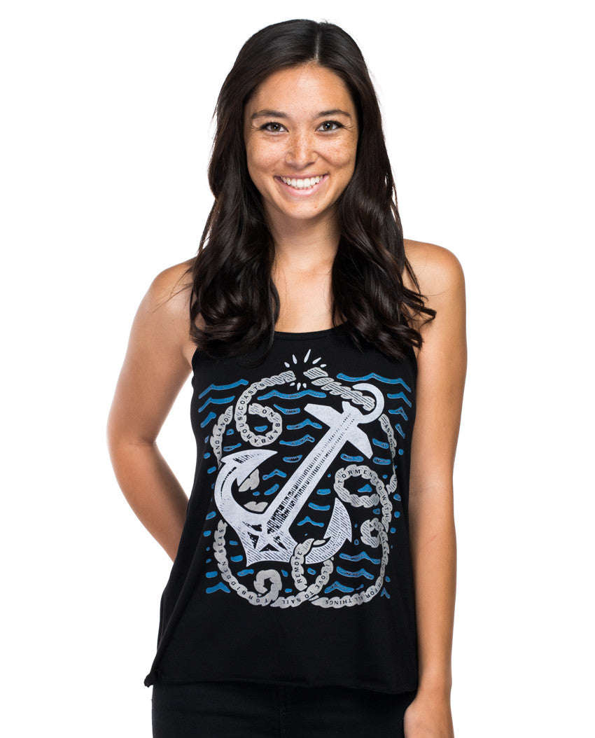 Anchor Rope Flowy Racerback Tank