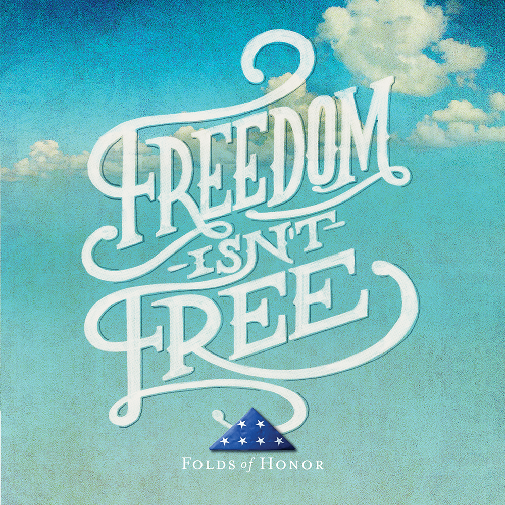 Freedom Isn't Freed Fold Of Honor Men's Short Sleeve Tee