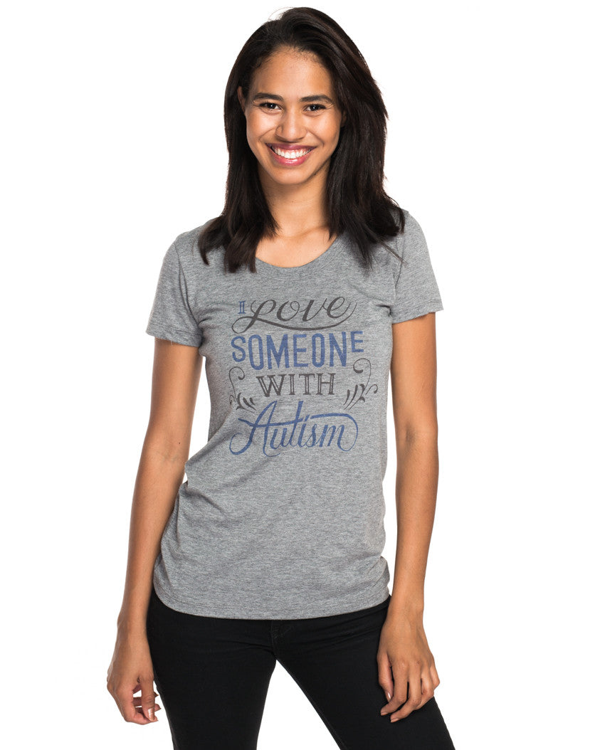 I Love Someone With Autism Triblend Short Sleeve Tee