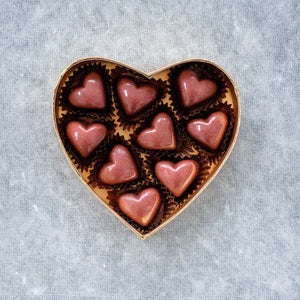 Salted Caramel pink heart box