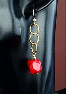 Drama - Red Coral Earrings