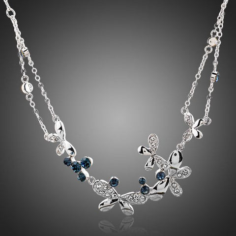 Austrian Crystal You Give Me Butterflies Necklace