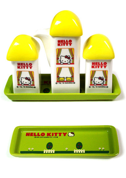 Hello Kitty Condiment Set (Yellow)