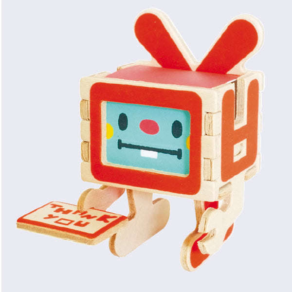 Play-Deco - 3D Robot Greeting Card (Thank You)