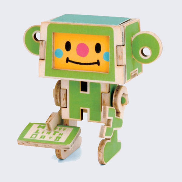 Play-Deco - 3D Robot Greeting Card (Happy Birthday)