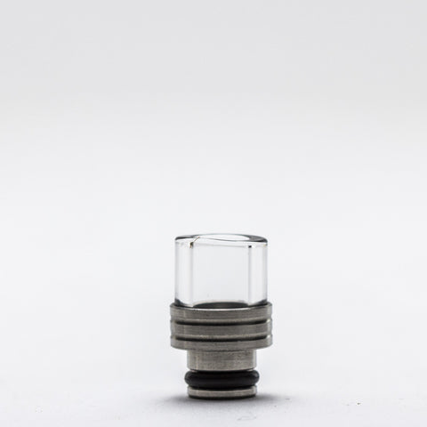 Trinity Glass - Shorty Pyrex Drip Tip - Silver -  - Drip Tip - Cloud Culture - 2