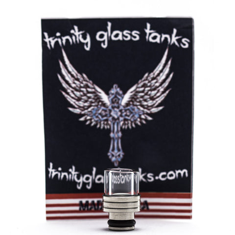 Trinity Glass - Shorty Pyrex Drip Tip - Silver -  - Drip Tip - Cloud Culture - 1