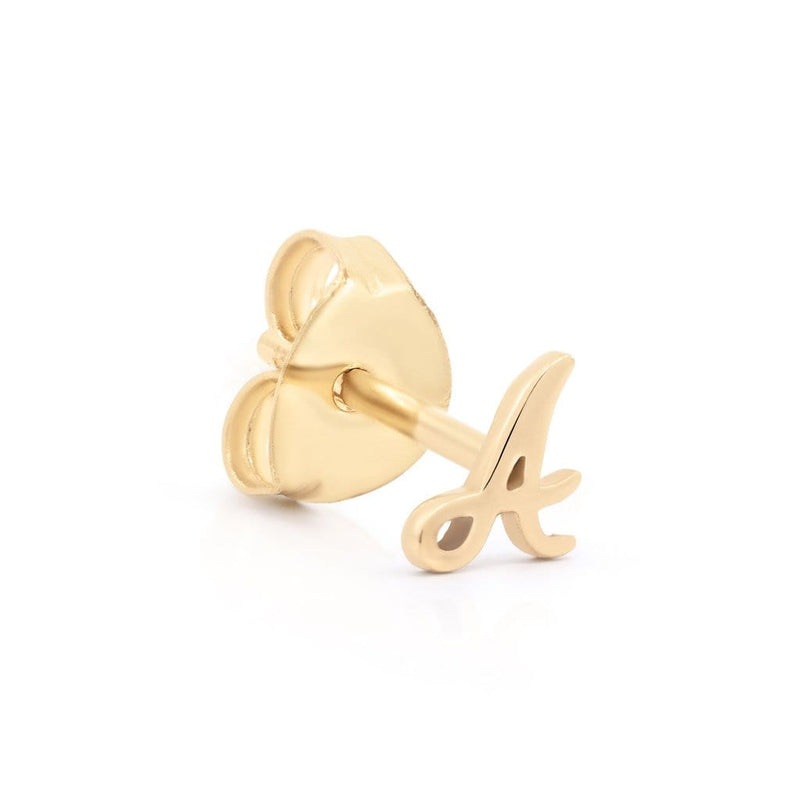 14k Gold Love Letter Single Earring