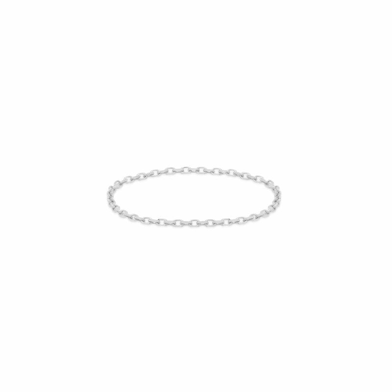 14k White Gold Purity Chain Ring