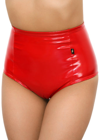 Red Heroine Liquid High Waisted Hot Pants