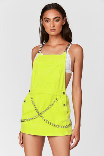 NEON CHAIN STRAP SKIRTALL