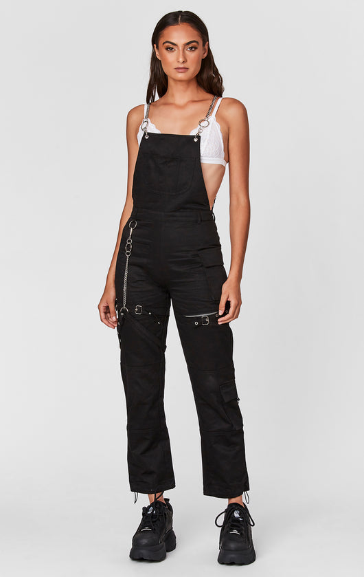 OVERALL WITH CHAIN STRAPS AND HARNESS