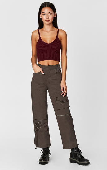 Carmar Denim: CARGO PANT WITH STRAPS AND BUCKLES - IMPORT PANT