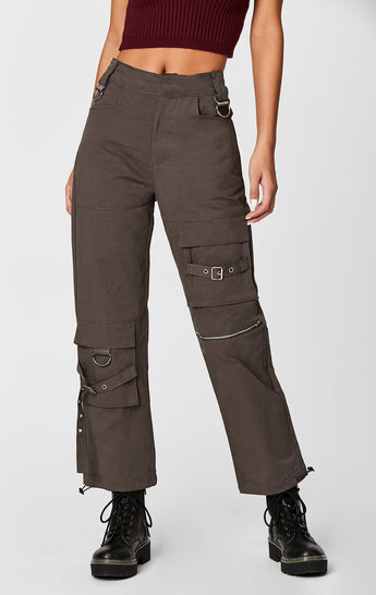 CARGO PANT WITH STRAPS AND BUCKLES