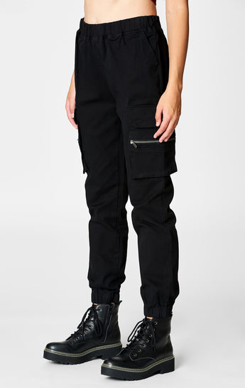 CARGO POCKET PANT WITH ZIPPER
