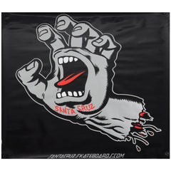 Santa Cruz Screaming Hand Banner - Black/Silver - 36in x 36in - Skate Banner