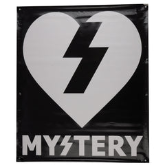 Mystery Text Skate Banner - Black/White - 28 1/2in x 34in