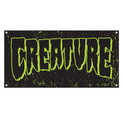 Creature Logo Banner - 48in - Black/Green