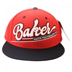Baker Game Time Men's Snapback Hat - Red/Black