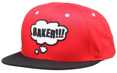 Baker Thoughtless Men's Snapback Hat - Red
