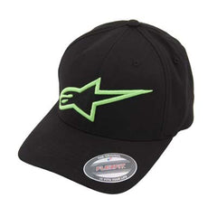 Alpinestars Logo Astar Men's Flexfit Hat - Black/Green
