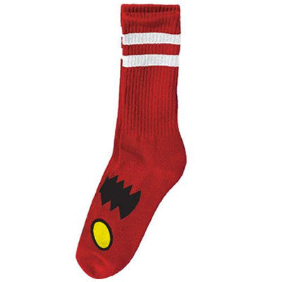 Toy Machine Monster Face Socks - Red (1 Pair)