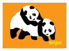 Enjoi Piggyback Pandas - Orange - Skate Banner