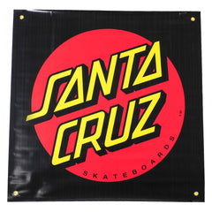 Santa Cruz Classic Dot Banner - Black/Red - 36in x 36in - Skate Banner