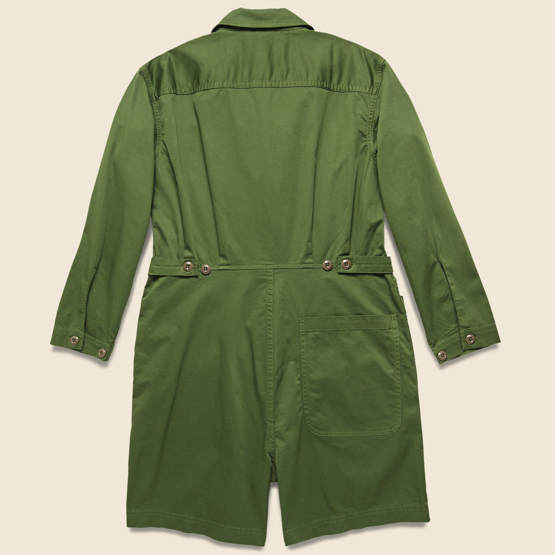 Short Jumpsuit - Army Olive