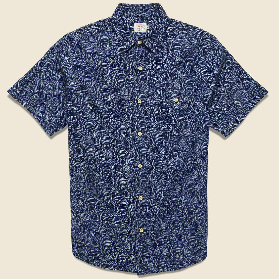 Faherty Coast Shirt - Indigo Ripple