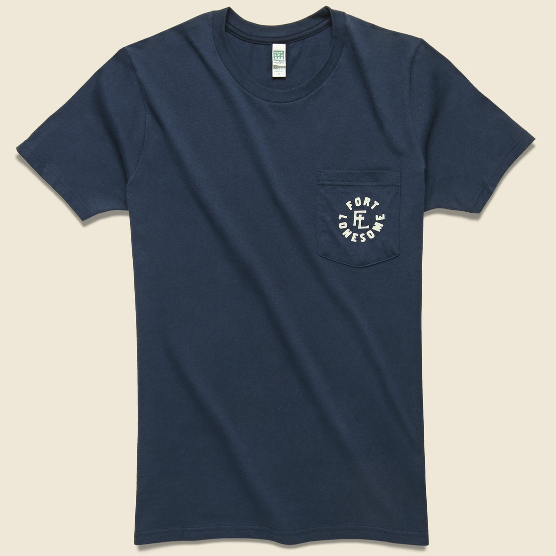 Fort Lonesome Logo Pocket Tee - Navy