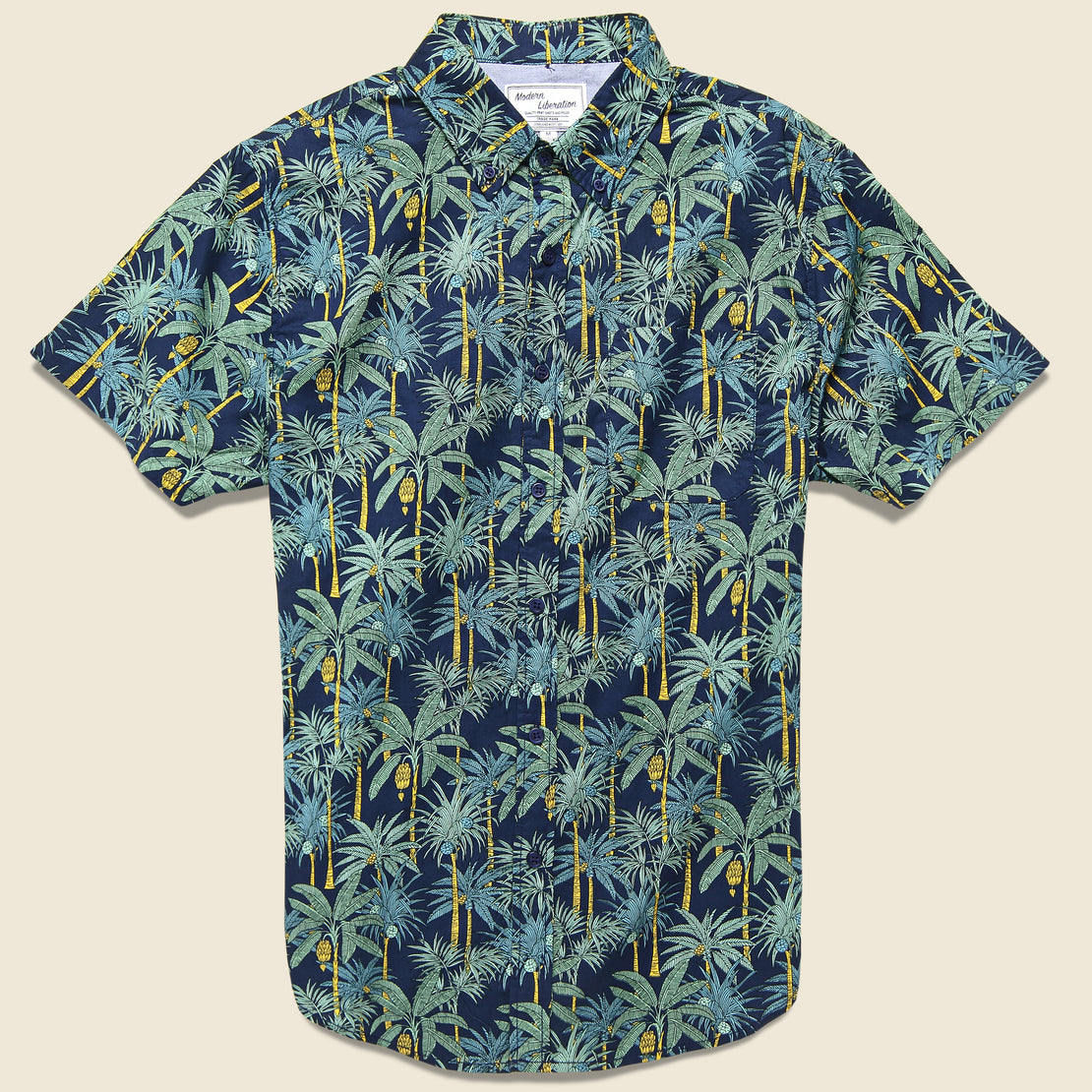 Modern Liberation Palm Tree Shirt - Navy