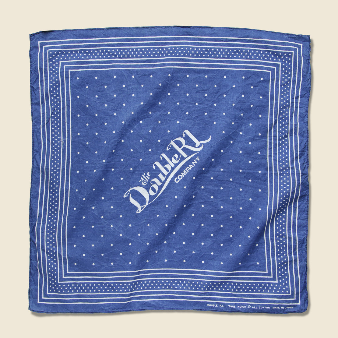 RRL Logo Bandana - Washed Blue Indigo