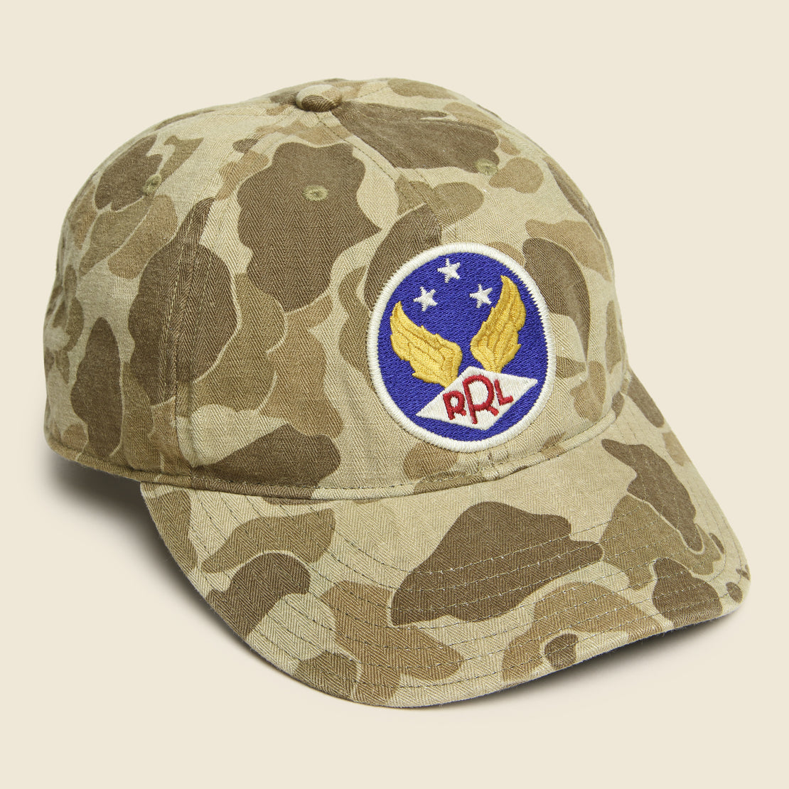 RRL Camo Ball Cap - Brown/Tan