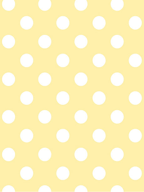 White Polka Dots on Yellow Photography Background / 1330