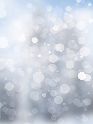 Light Blue Gray Bokeh Printed Photo Background / 1441 - DropPlace