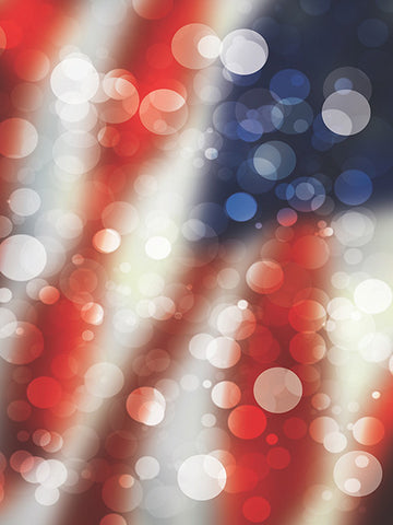 Bokeh American Flag Printed Photography Backdrop / 1457 - DropPlace